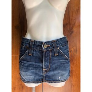 True Religion Denim Mini Skirt